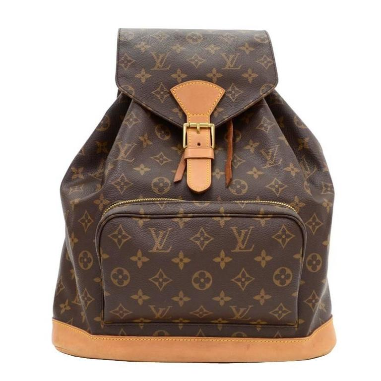aa3304b0a0ed Louis Vuitton Montsouris Gm Monogram Canvas Backpack Bag At 1stdibs