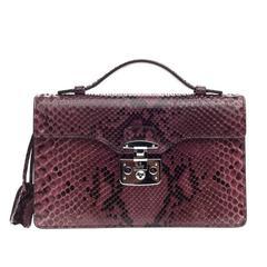 Gucci Lady Lock Briefcase Clutch Python