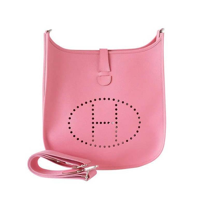 Hermes Bag Evelyne Gm Rose Confetti Pink Epsom Palladium