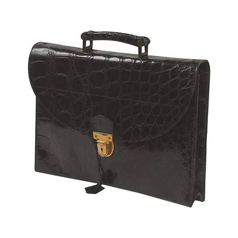 Loewe Black Alligator Briefcase