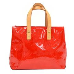 Louis Vuitton Reade PM Red Vernis Leather PM Hand Bag