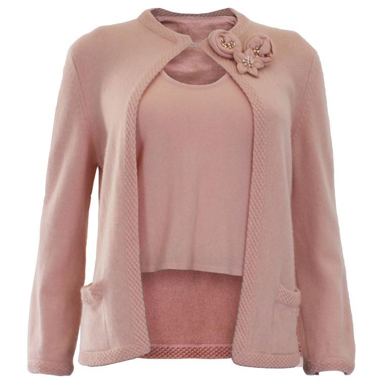 Pink Cardigan Sweater