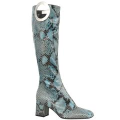 Tom Ford for Gucci Snakeskin 'G' Boots