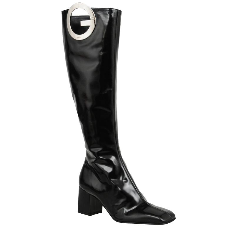 Tom Ford for Gucci Patent 'G' Boots For Sale
