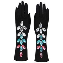 Yves Saint Laurent Crystal Beaded Gloves