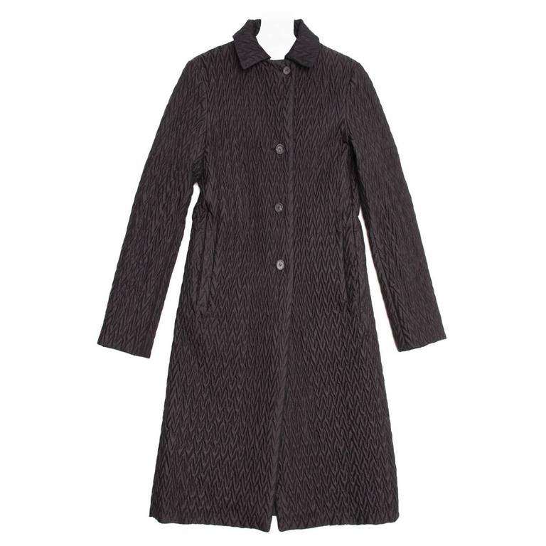 Jil Sander Black Reversible Quilted Coat