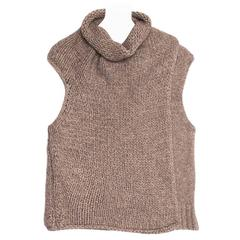 Celine Grey Brown Chunky Sleeveless Knit