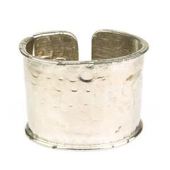 Rare 1970s Trigere Hinged Cuff Bracelet