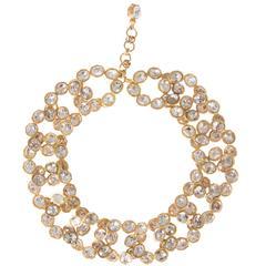 CHANEL Gilt & Crystal Large Link Necklace