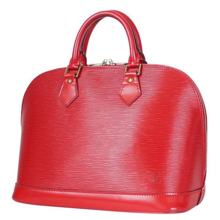 Louis Vuitton Epi Alma Handbag, Tote Red  1