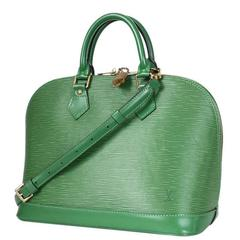 Louis Vuitton Green Epi Alma Handbag With Cross Body Strap