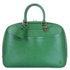 Louis Vuitton Green Epi Deauville Handbag Special Order