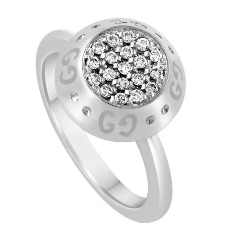 TOM FORD for GUCCI WHITE GOLD RING with DIAMONDS For Sale at 1stdibs