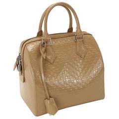 Louis Vuitton Nude Vernis Patent Speedy Top Handle Satchel Bag W / Accessories