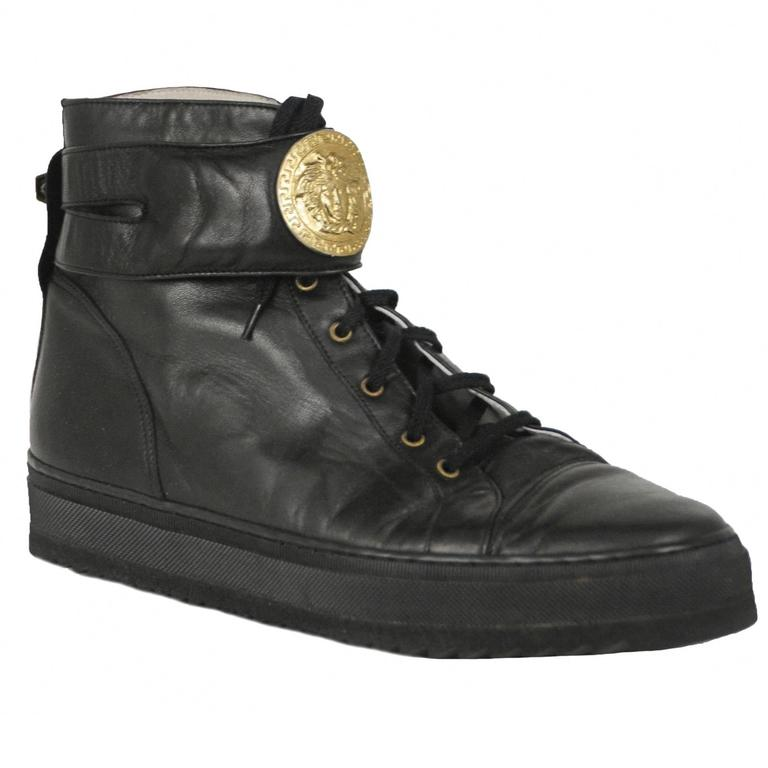 Versace Black Medallion Sneakers