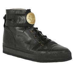 Versace Black Medallion Sneakers
