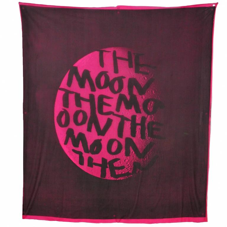 Sprouse Magenta Moon Scarf For Sale