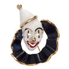 1960s Hattie Carnegie Clown Brooch