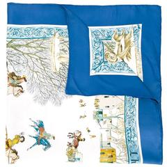 """""""L'Hiver"""" Hermes Collectable scarf 1969"""