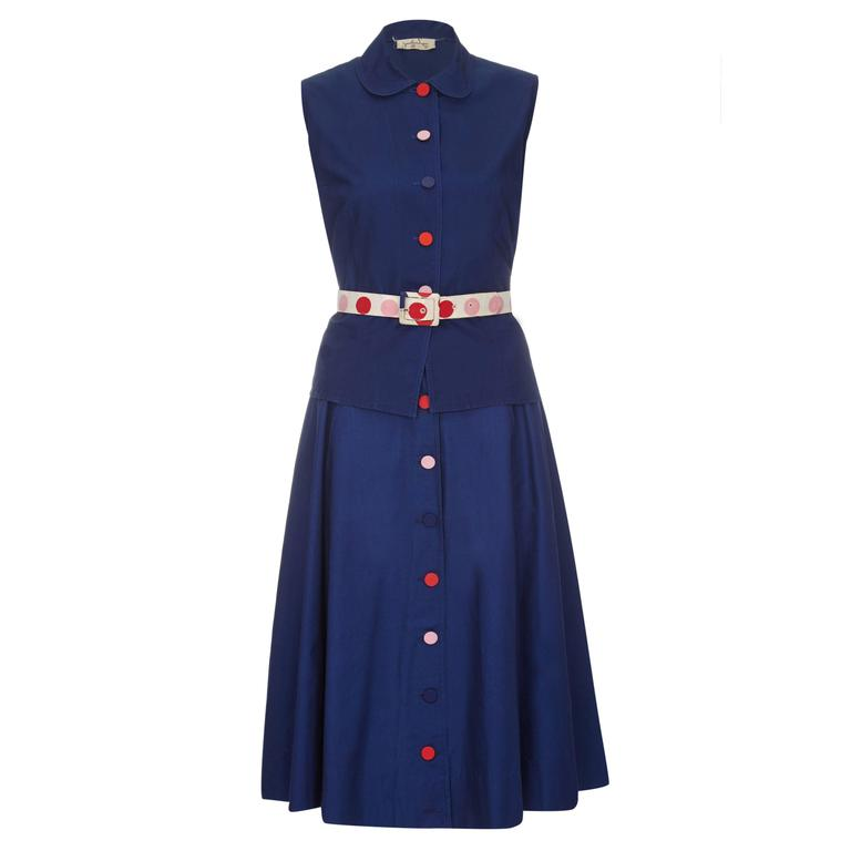 1960s Jonathan Logan Navy Two Piece Set  For Sale