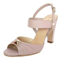 Valentino Taupe Leather Pleated Peep-Toe Sandals sz 40