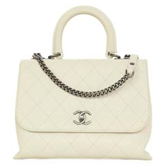 Chanel 2016 Ivory Quilted Urban Luxury Flap Bag SHW RT. $4,800