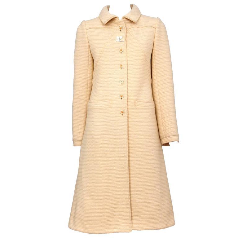Courreges Peach Wool Coat
