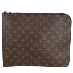 Vintage Louis Vuittion Monogram Portfolio Large Clutch Bag