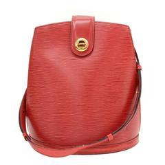 Vintage Louis Vuitton Cluny Red Epi Leather Shoulder Bag