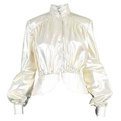 Yuki of London Metallic Pale Gold Lamé Jacket, 1970s