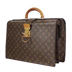 Vintage Louis Vuittion Serviette Fermoir Monogram Briefcase, Business Bag