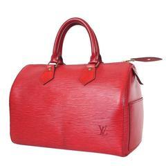 Vintage Louis Vuitton Red Epi Speedy 25 City Tote Bag