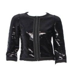 Amazing Chanel Black Sequin Jacket
