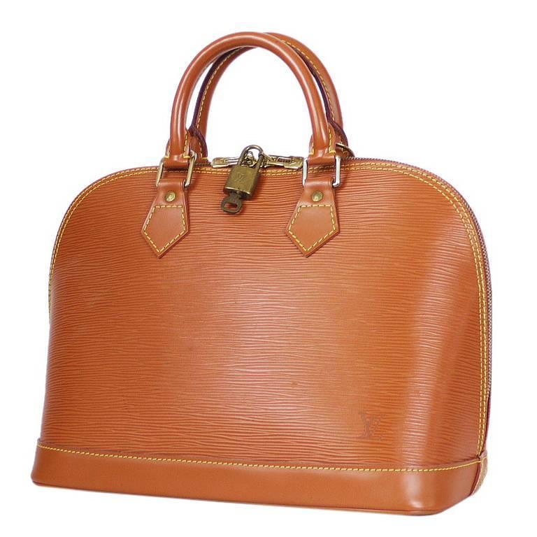 Louis Vuitton Epi Alma Handbag, Tote Zipangu Gold For Sale