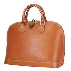 Louis Vuitton Epi Alma Handbag, Tote Zipangu Gold