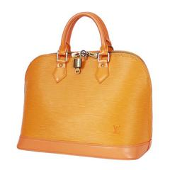 Louis Vuittion Orange Epi Alma Handbag, Tote