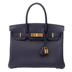 Brand New Hermes Birkin 30 Blue Nuit Togo