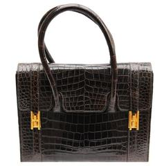"Stunning Hermes Drag ""Cacao"" Handbag 1980"
