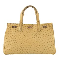 VBH Vault Media Lime Ostrich Top Handle Tote