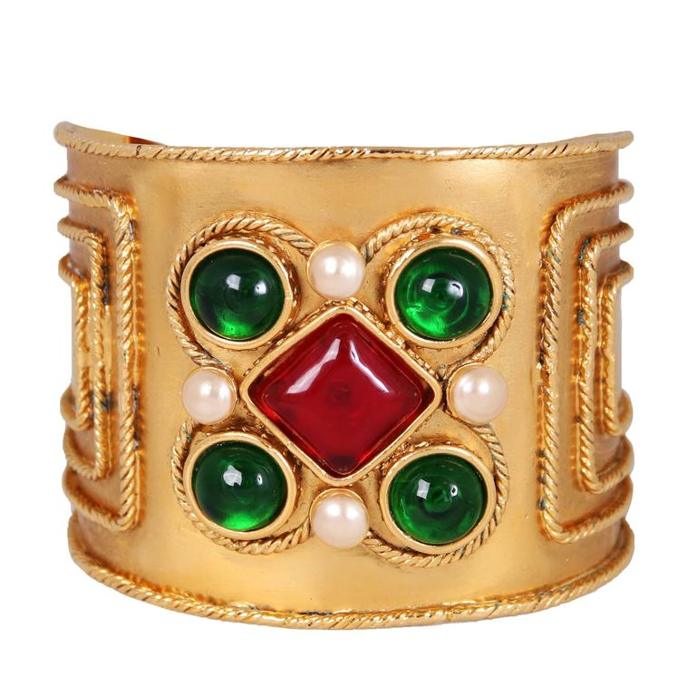 Chanel Gripoix Bracelet Cuff, 2005  For Sale