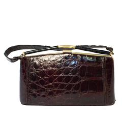 50s Brown Alligator Handbag