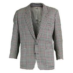 Kenzo Paris Men's Vintage Wool Checked Blazer, 1990s