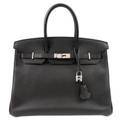 Hermès Black Togo 35 cm Birkin Bag with Palladium