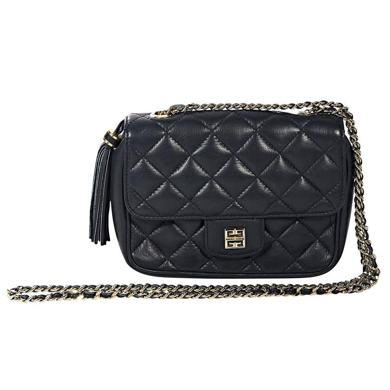 06a2c2b25049 Navy Givenchy Quilted Leather Crossbody Bag at 1stdibs
