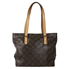 Brown Louis Vuitton Monogram Canvas Tote Bag