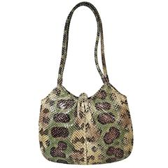 Multicolor Judith Leiber Python Shoulder Bag