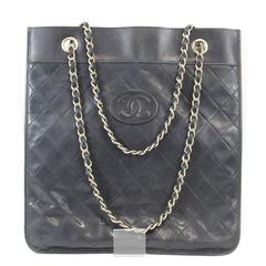 Vintage Chanel Extra Slim Black Calfskin Bag