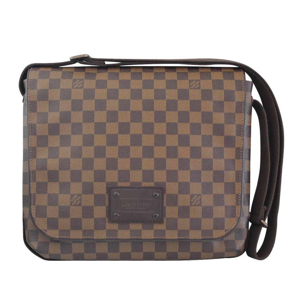 Louis Vuitton Brooklyn Mm Damier Ebene Messenger Bag Discontinued At 1stdibs