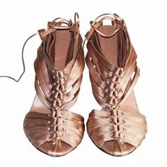 "Free Shipping: Uber Rare Tom Ford Gucci SS 2004 ""IT"" Corset Shoes In Nude! 91/2B"