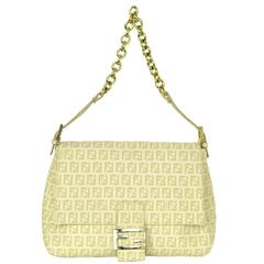 Fendi Ivory and Beige Zucca Mama Shoulder Bag